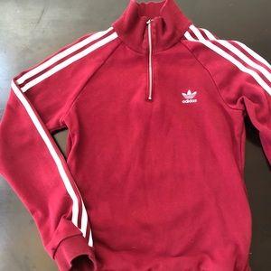Adidas maroon sz Small zip sweatshirt